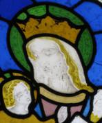 Mary and Child window, Detail 4